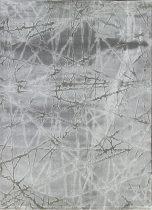 Dizayn 2371 szürke vonalkás mintás szőnyeg  80x150 cm