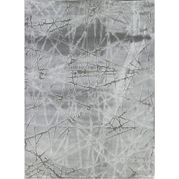 Dizayn 2371 szürke vonalkás mintás szőnyeg 120x180 cm