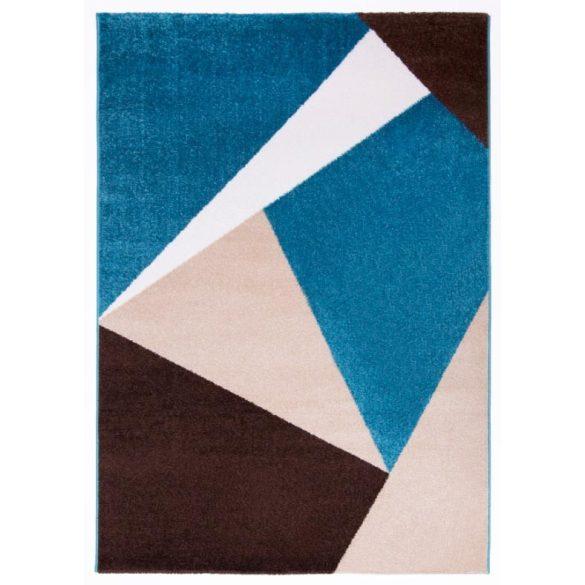 Barcelona E198_FMA12 kék-bézs geometriai mintás szőnyeg 120x170 cm