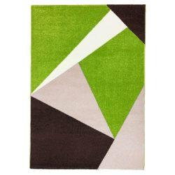 Barcelona E198_FMA52 zöld-bézs geometriai mintás szőnyeg 160x230 cm
