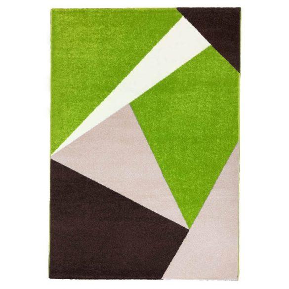 Barcelona E198_FMA52 zöld-bézs geometriai mintás szőnyeg 120x170 cm