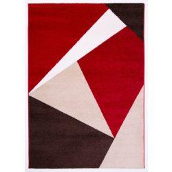 Barcelona E198_FMA42 piros-bézs geometriai mintás szőnyeg  60x110 cm