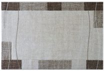 Efes 7435 bézs vonalas keretes szőnyeg 120x170 cm