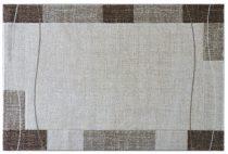 Efes 7435 bézs vonalas keretes szőnyeg 160x230 cm