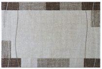 Efes 7435 bézs vonalas keretes szőnyeg 200x290 cm