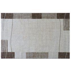 Efes 7435 bézs vonalas keretes szőnyeg  80x150 cm