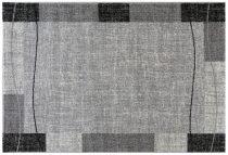 Efes 7435 szürke vonalas keretes szőnyeg 160x230 cm
