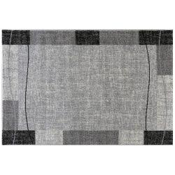 Efes 7435 szürke vonalas keretes szőnyeg 200x290 cm
