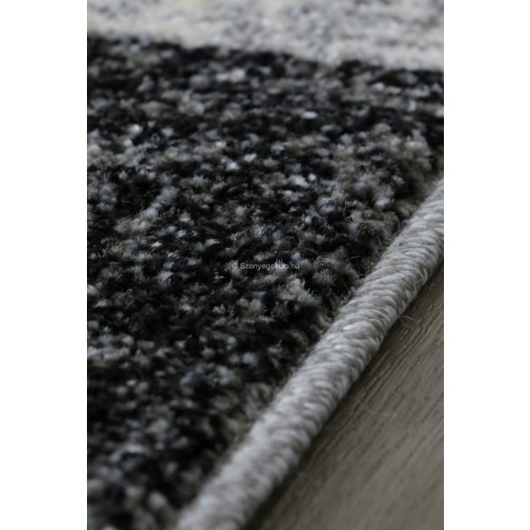 Efes 7435 szürke vonalas keretes szőnyeg 120x170 cm