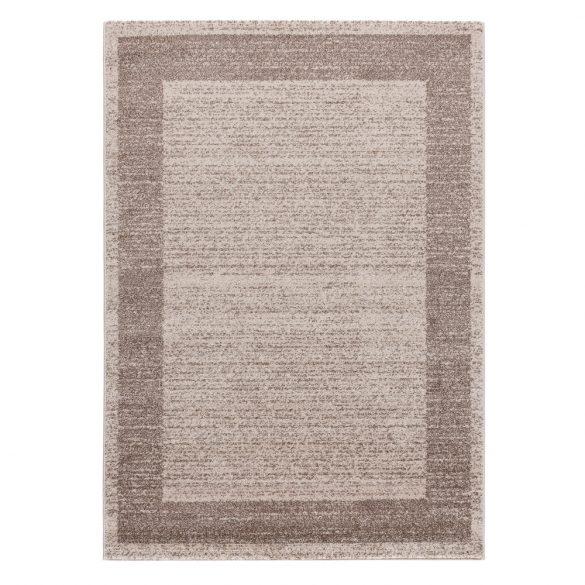 Efes 7437 bézs sima keretes szőnyeg 120x170 cm