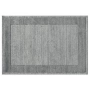 Efes 7437 szürke sima keretes szőnyeg 120x170 cm