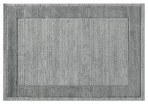 Efes 7437 szürke sima keretes szőnyeg 160x230 cm