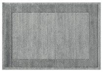 Efes 7437 szürke sima keretes szőnyeg  80x150 cm