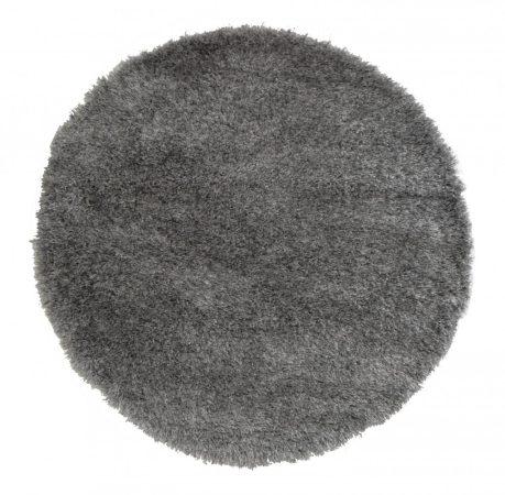Shaggy Eleysa grey szőnyeg 160 cm kerek