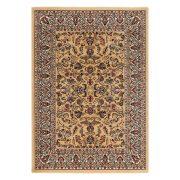 Excellent 804 bézs levél mintás szőnyeg  60x110 cm