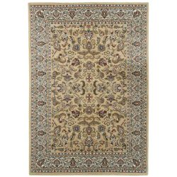 Excellent 804 bézs levél mintás szőnyeg  40x60 cm