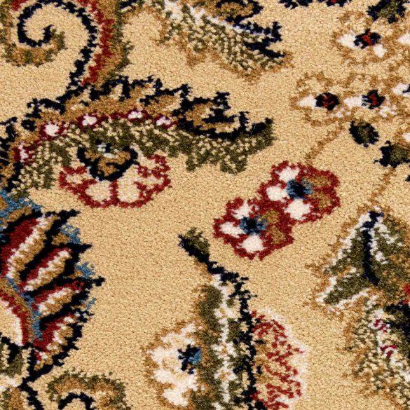 Excellent 804 bézs levél mintás szőnyeg  80x300 cm
