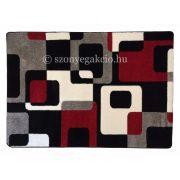 Fekete-piros kockás2 szőnyeg  60x110 cm