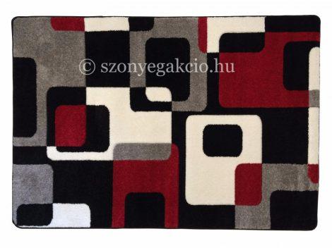 Fekete-piros kockás2 szőnyeg  60x220 cm