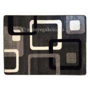 Fekete-szürke kockás szőnyeg 120x170 cm