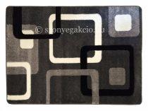 Fekete-szürke kockás szőnyeg  80x150 cm