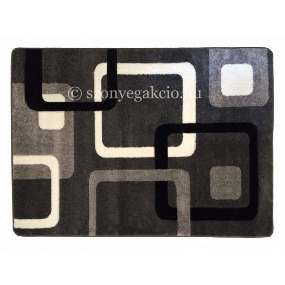 Fekete-szürke kockás szőnyeg  60x110 cm