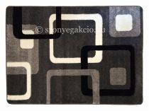 Fekete-szürke kockás szőnyeg  60x220 cm