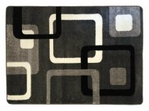 Fekete-szürke kockás szőnyeg 200x280 cm