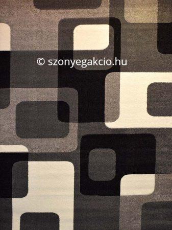 Fekete-szürke kockás2 szőnyeg  60x110 cm