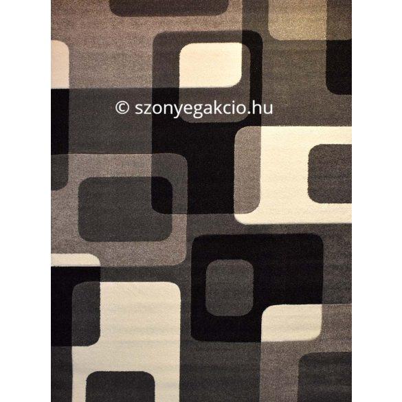 Fekete-szürke kockás2 szőnyeg  80x150 cm