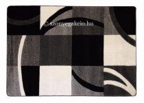 Fekete-szürke kockás3 szőnyeg   60x220 cm