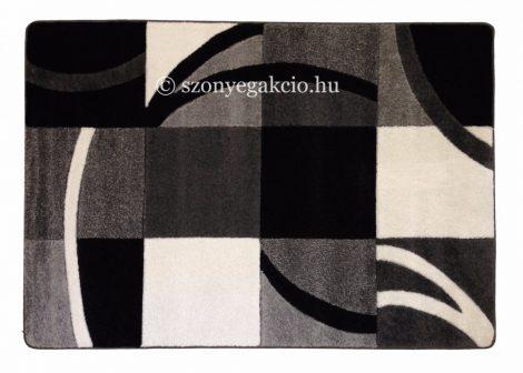 Fekete-szürke kockás3 szőnyeg   60x110 cm