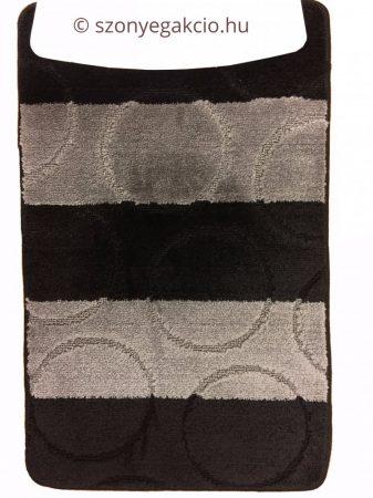 Fürdőszobaszőnyeg fekete-szürke körös 2 db-os 80x50
