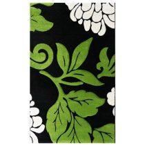 Florida 906 zöld levélmintás szőnyeg  80x150 cm