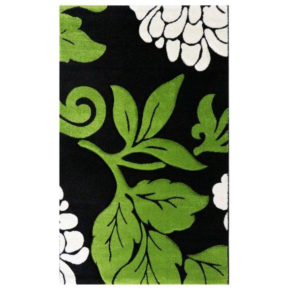 Florida 906 zöld levélmintás szőnyeg 200x290 cm