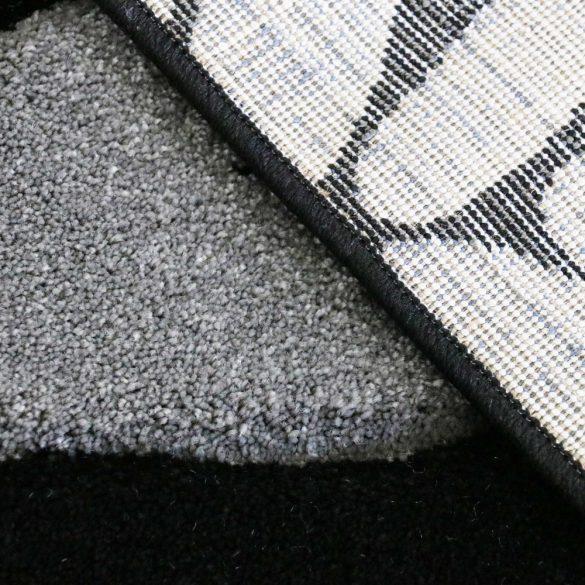 Florida 906 szürke levélmintás szőnyeg  80x150 cm