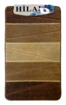 Fürdőszobaszőnyeg drapp-barna 2 db-os 50x80