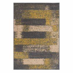 Gustavo 3197 sárga modern mintás szőnyeg  80x150 cm
