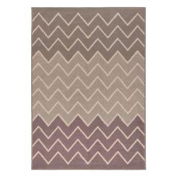 Gustavo 3221 barna modern cikk-cakk mintás szőnyeg  80x150 cm