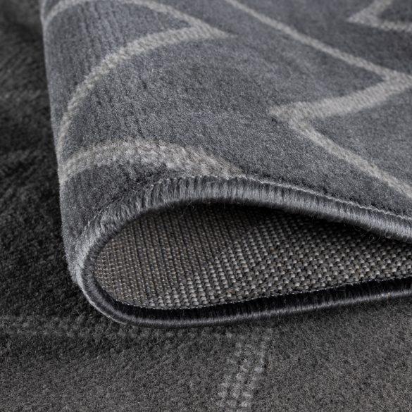 Gustavo 3221 szürke modern cikk-cakk mintás szőnyeg  80x150 cm