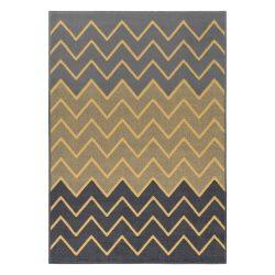 Gustavo 3221 sárga modern cikk-cakk mintás szőnyeg  80x150 cm