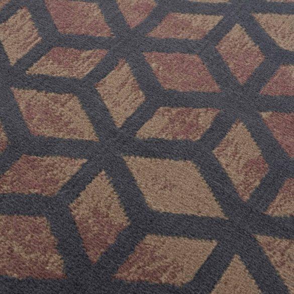 Gustavo 3222 barna geometriai mintás szőnyeg  80x150 cm