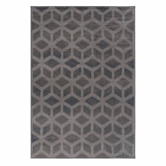 Gustavo 3222 szürke geometriai mintás szőnyeg  80x150 cm