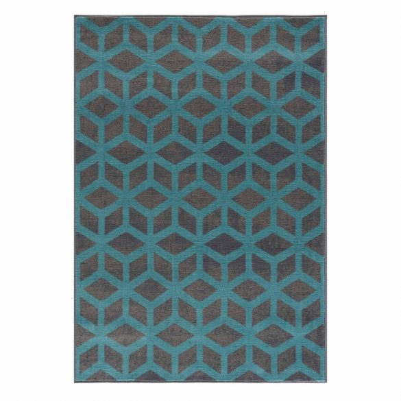 Gustavo 3222 türkíz geometriai mintás szőnyeg 200x290 cm