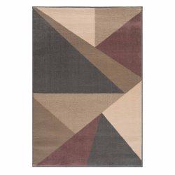 Gustavo 3224 barna geometriai mintás szőnyeg  80x150 cm
