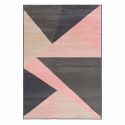 Gustavo 3224 pink geometriai mintás szőnyeg  80x150 cm