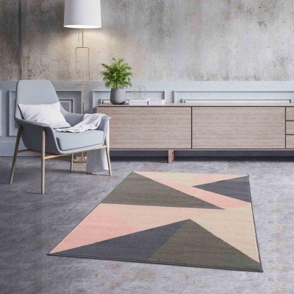 Gustavo 3224 pink geometriai mintás szőnyeg 160x230 cm