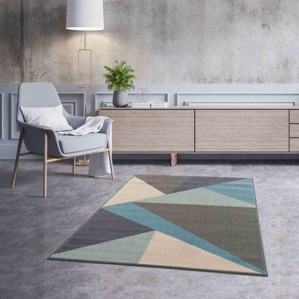 Gustavo 3224 türkíz geometriai mintás szőnyeg 200x290 cm