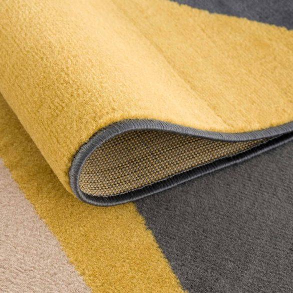 Gustavo 3224 sárga geometriai mintás szőnyeg 160x230 cm