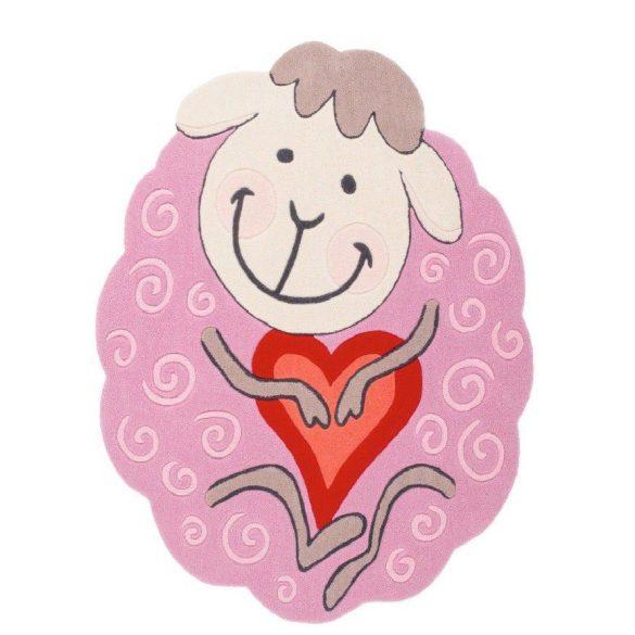 Magic Kids 307 Pink - Bárányos gyerekszőnyeg Rózsaszín 105x135
